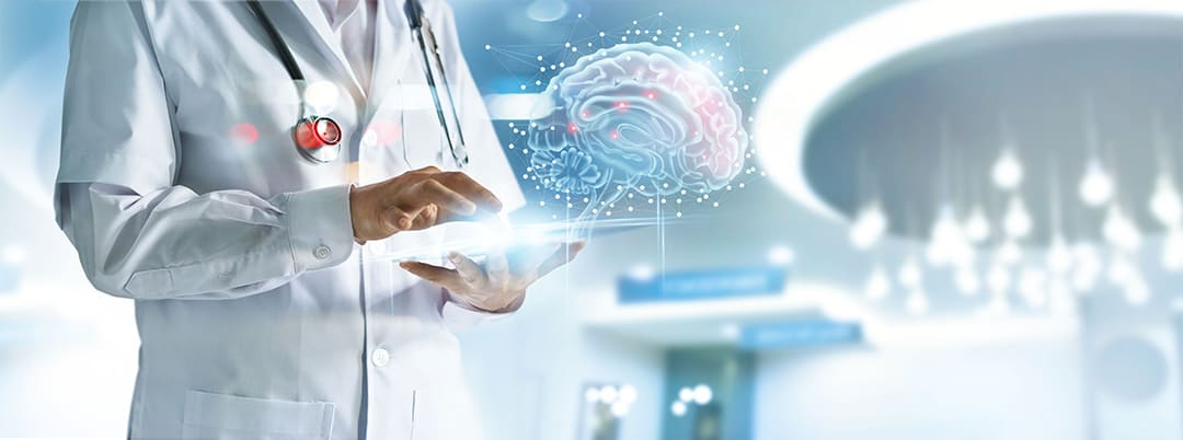ICTを活用して「効果判定に基づく治療」「薬効評価に基づく治療」の歩みを大きく前進させる。AIを活用して、実現可能な早期発見体制を構築する。
